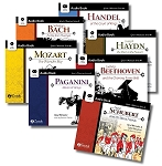 Great Musician Series Audio Book Collection Set 1 MP3 on a USB stick