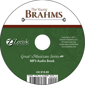 The Young Brahms Audio Book on CD (MP3 format)