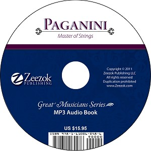 Paganini, Master of Strings Audio Book on CD (MP3 format)