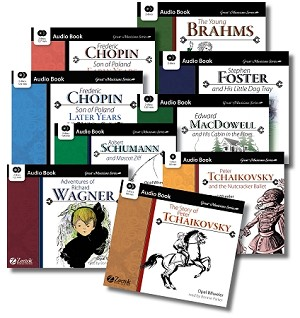 Great Musician Series Audio Book Collection Set 2 on a USB Stick